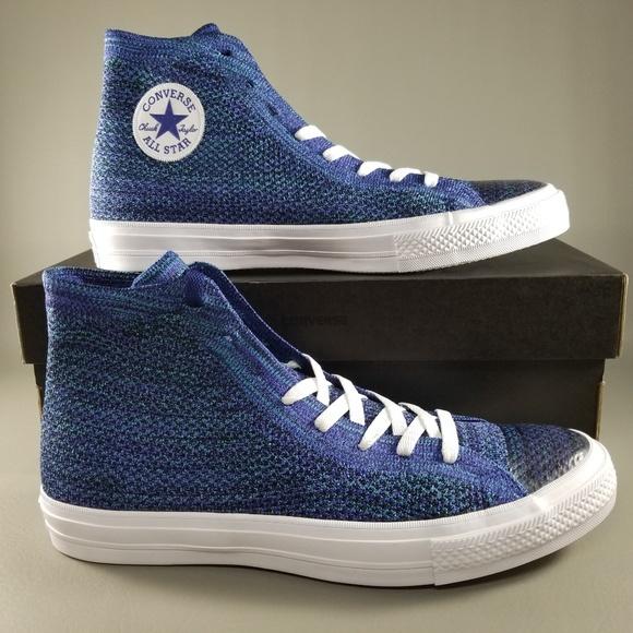 4d25475d4dd391 Converse CTAS X Nike Flyknit Mens Shoes 10.5 Blue